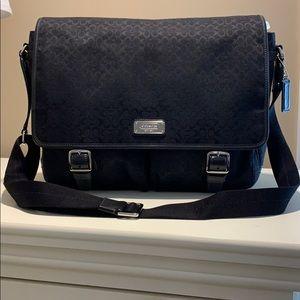 Gently Used - Black Coach Messenger Bag F70293